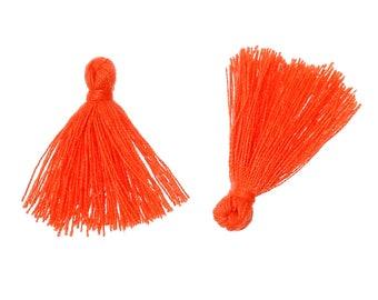 Neon orange pompons 10 26 mm