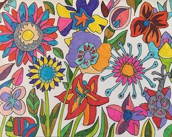 Handmade Card - Spring Flower Burst
