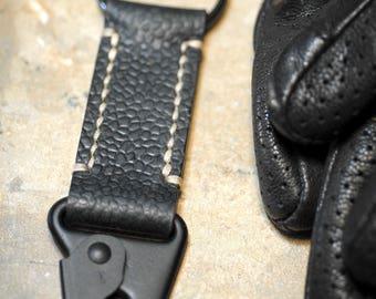 Made In USA Horween Leather Keyring Keyfob, USA Hardware, HK H&K Sling Clip