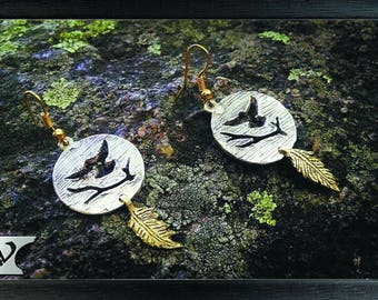 Earrings Birds, sterling silver, handmade