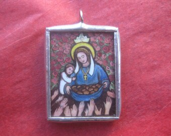 Saint Elizabeth of Hungary - Charm Medal - Third Order Franciscan - Patroness of Poor and Sick - Confirmation Gift for Ladies