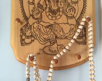 Ganesh Woodburning with Jewelry Pegs!