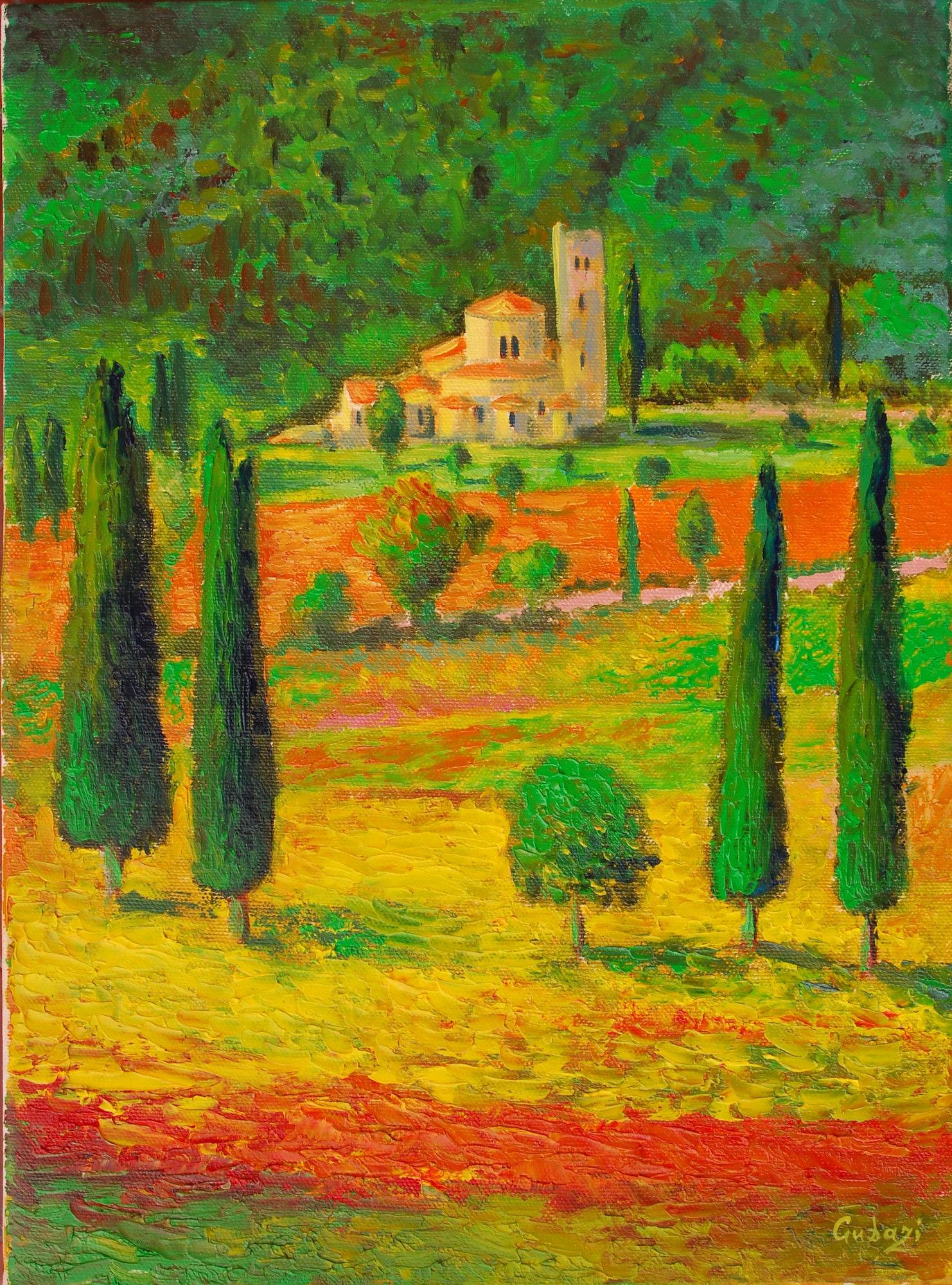 Italy Landscape Tuscany Oil Painting Italian Wall Art Tuscan