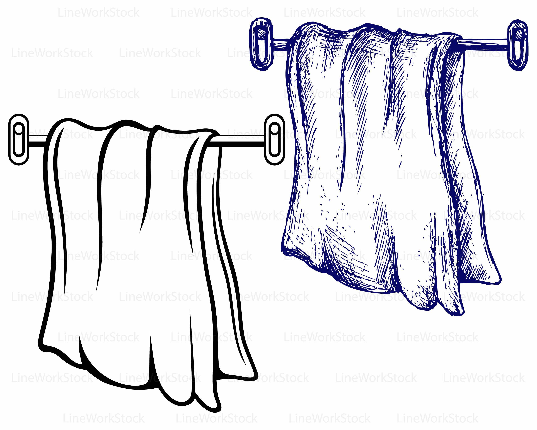 towel svg towel clipart towel svg towel silhouette towel rh etsy com towel clipart gif hand towel clipart