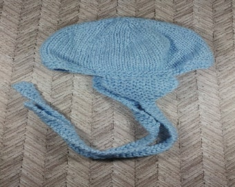 Newborn baby blue aviator winter hat