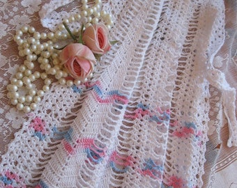 Crochet Half Apron, Girls Crochet Apron, Hand Crochet, Tea Party Apron, Handmade Apron, by mailordervintage on etsy