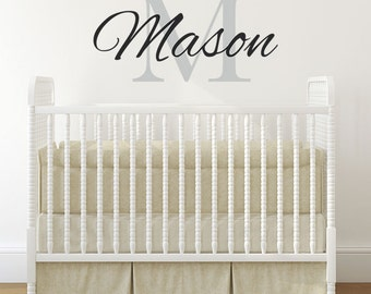 Baby Boy Wall Decal Etsy - Monogram wall decals for nursery