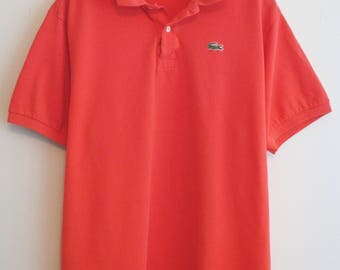 90's Lacoste Red/Orange Polo Shirt