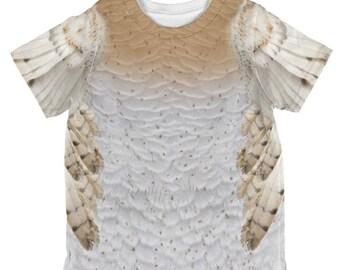 Halloween Barn Owl Costume All Over Toddler T Shirt