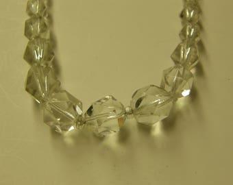 "Antique Crystall Aurora Borealis 14"" Necklace"