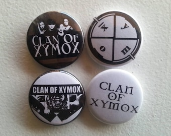 4 x Clan of Xymox 1'' Pin Button Badges ( dutch rock electronic gothic )