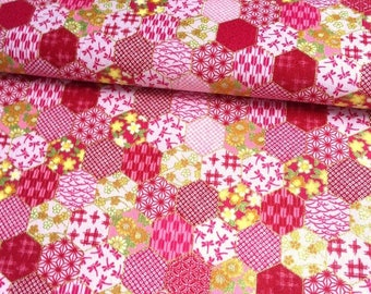 Japanese traditional pattern, background, cotton 110 x 50 (251)