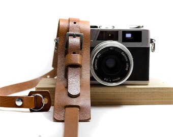 Leather camera neck strap - Korda by AlterSkin