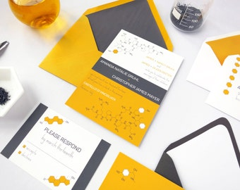 Neurochemical Wedding Invitation Suite