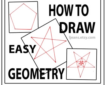 How to Draw Easy Geometry 5 point Star and Pentagon Tutorial
