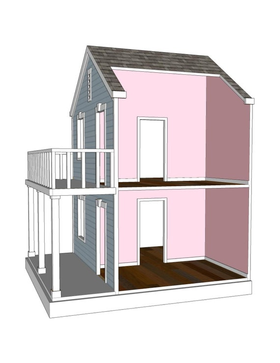 Doll House Plans for American Girl or 18 inch dolls 4 Room – Ag Doll House Plans