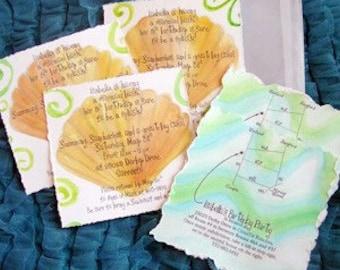 Mermaid Birthday Party Invitations-POOL Party invitations