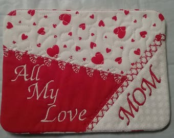 Valentine Personalized Coasters / mug rugs