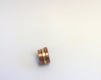 Copper Ring, Brass Ring, Hand Forged Ring, Rustic Ring,