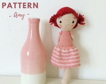 Amy | Crochet Doll Pattern, Crochet Pattern, Amigurumi Doll Pattern, Amigurumi Doll, Amigurumi Pattern, PDF, crochet doll