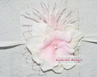pink baby headband, newborn headband, small dainty flower headband, infant headband, toddler, photography prop