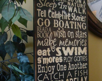 River Rules Subway/Typography Word Art Sign