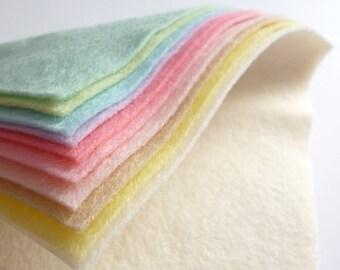 PASTELS Wool Blend Felt Pack 10 squares