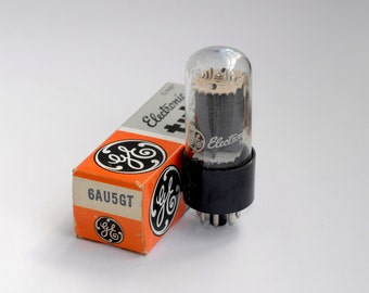 General Electric 6AU5GT vacuum tubes - new old stock - excellent condition - original box - GE electronic tube