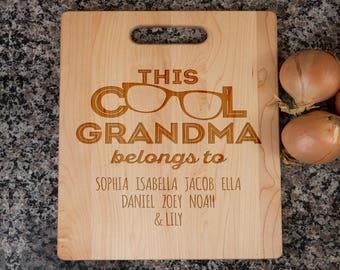gift for grandma, grandma's cutting board, grandma gift, grandma's kitchen, personalized cutting board, cutting board for grandma, grandma