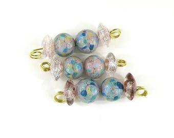 SRA Artisan Lampwork Beads Earring Pairs Pastels handmade glass patty lakinsmith