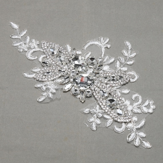 Crystal lace Rhinestone lace Lace applique Embroidery lace