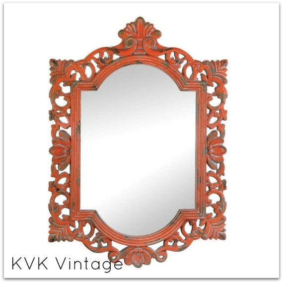 BOHO Vintage Distressed Coral Wall Mirror - Wall Mirror - Mirror - Decorative Mirror