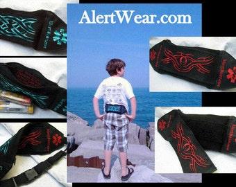Waterproof Custom Epi-Pen  Fanny Pack / Case with Interchangable Designs by Alert Wear