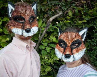 Mr. and Mrs. Fox, Couples costume, Fantastic Mr. Fox, Fantastic Mrs. Fox, Felicity Fox, fox mask, fox masks, fox costume, ready to ship!
