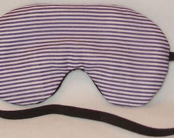 Handmade Purple Stripe Sleep Eye Mask Blindfold Hen Stag Blackout