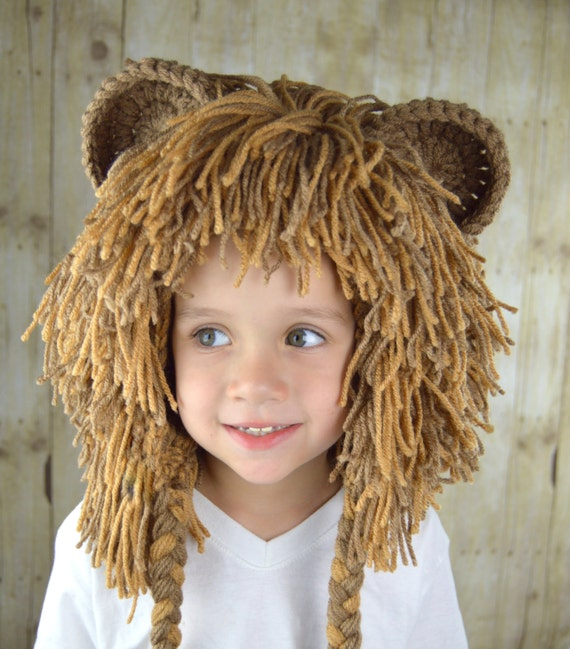 Like this item?  sc 1 st  Etsy & Lion Wig Halloween Costume Lion Hats Costumes for Kids