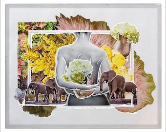 Oasis | original collage art print