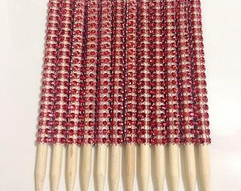 1 Dz. Candy Apple Sticks. Bling Apple Sticks. Ibbyz Shop. Wooden sticks