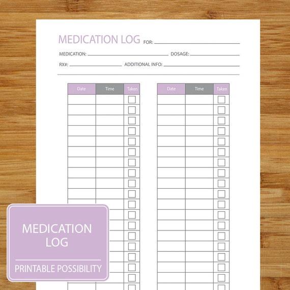 printable medication log