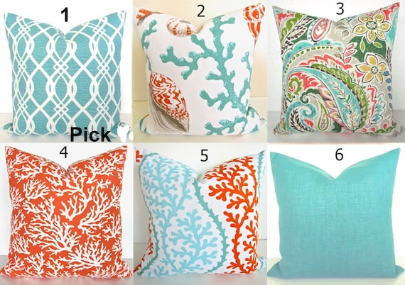 indoor living cushion outdoor reef bungalow product cover pillow coral