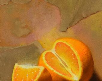 Atomic Orange Part II - Original Oil Painting in Frame