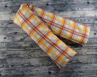 Adult Hot or Cold Pack // Made in Montana // Rice Pack // Gift for Her // Gift for Him // Heat Pack // Gift for Mom // Yellow Plaid