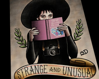 Strange and Unusual (Lydia) Art Print Beetlejuice Tattoo Flash