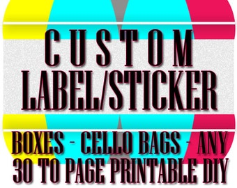 CUSTOM PRODUCT LABEL Sticker, Product Sticker, Custom Label Design, Return Address Label Print Your Own Sticker, Labels