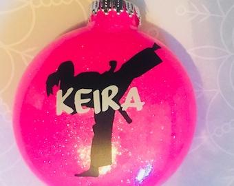 Karate Girl Ornament