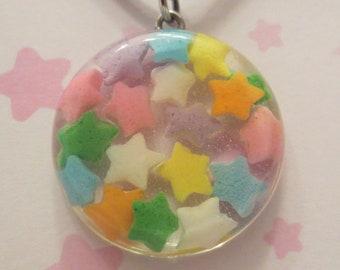 Star Sprinkles Resin Necklace
