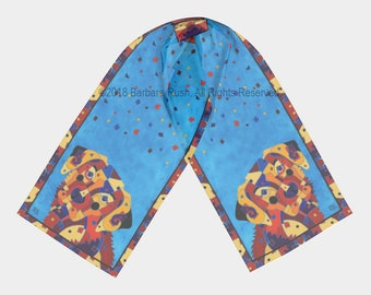 Labrador Retriever Scarf, Labrador Scarf, Dog Scarf, Colorful Dog Scarf, Blue Dog Scarf