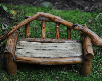 Fairy Garden Furniture Wood Bench+Miniatures+supplies+Accessories+Indoor+Outdoor+Figurine+ Doll House