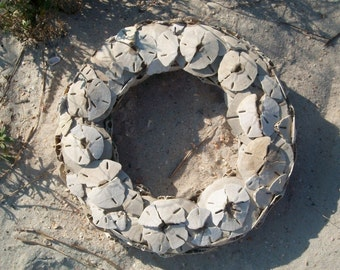 Broken Sand dollars Wreath