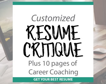 Resume Critique - Professional Resume Template and Guide | Keyword Lists, Interview Help, and LinkedIN Shortcuts, Thank You Letter Help